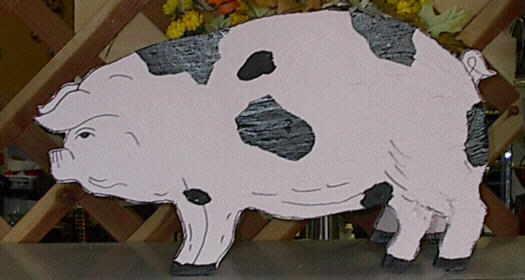 Wood Pig Image