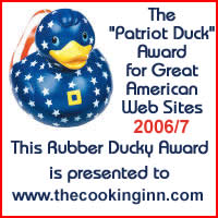 Congratulations on your Rubber Ducky award! You have a cool website and thoroughly deserve the Patriot Duck award for 2006/7.