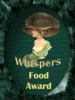 Whispers Food Award
