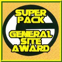 General Award Image : Your site has won superpacks general award .